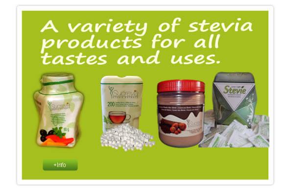Large variety of stevia