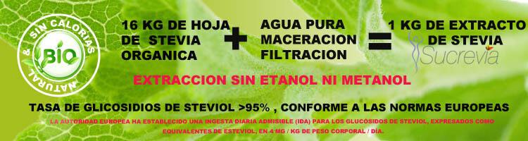 Stevia natural y artesanal