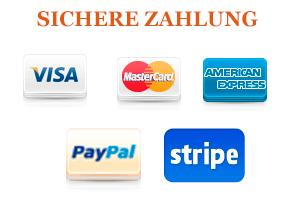 Sichere Zahlung per Paypal und 2checkout