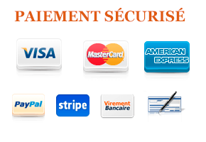 Paiement sécurisé par Paypal et carte de crédit