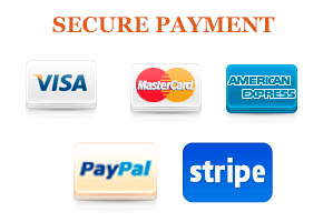 Secured payment by Paypal and Credit card